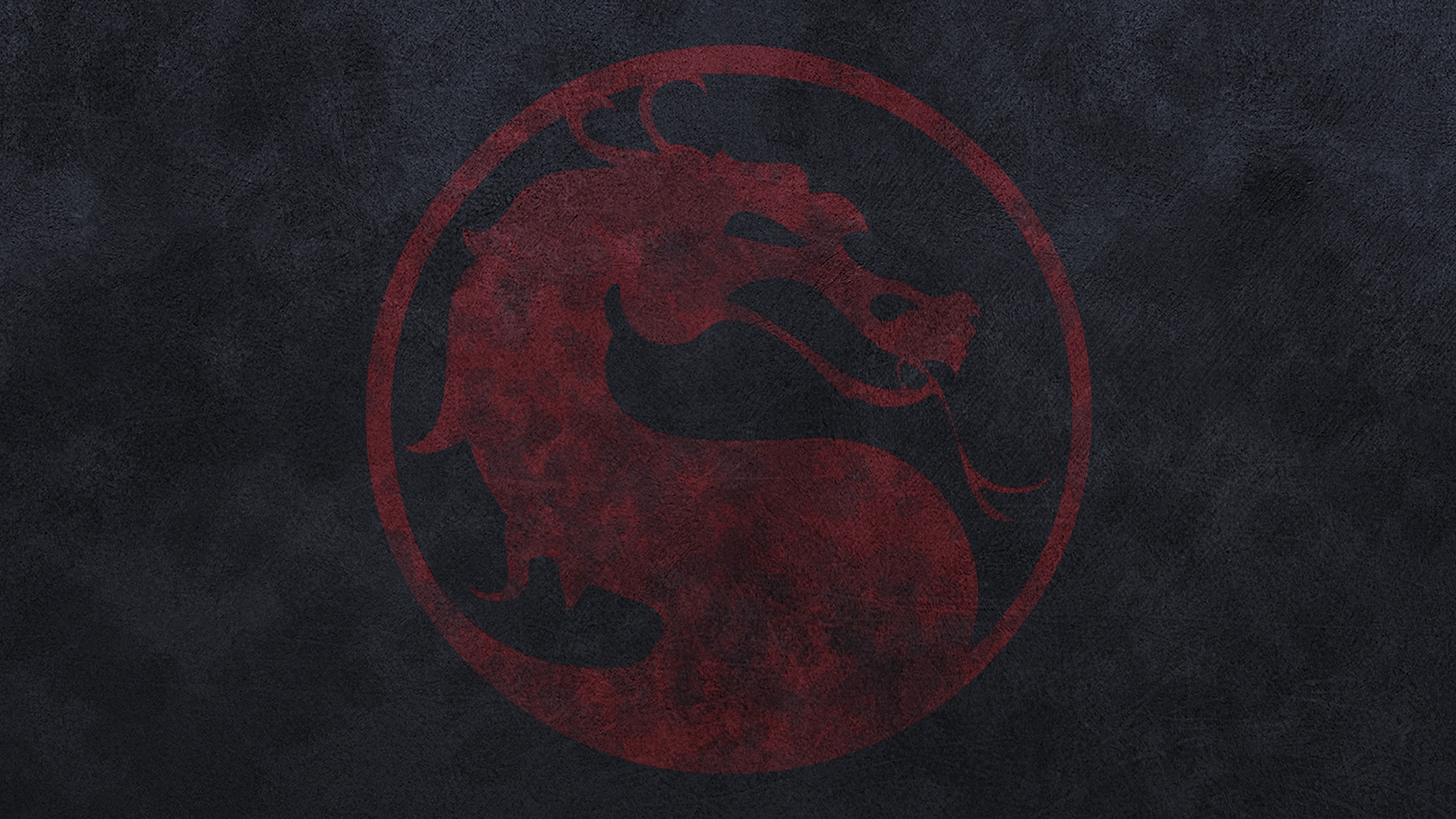 Mortal Kombat wallpaper Dragon on a dark background