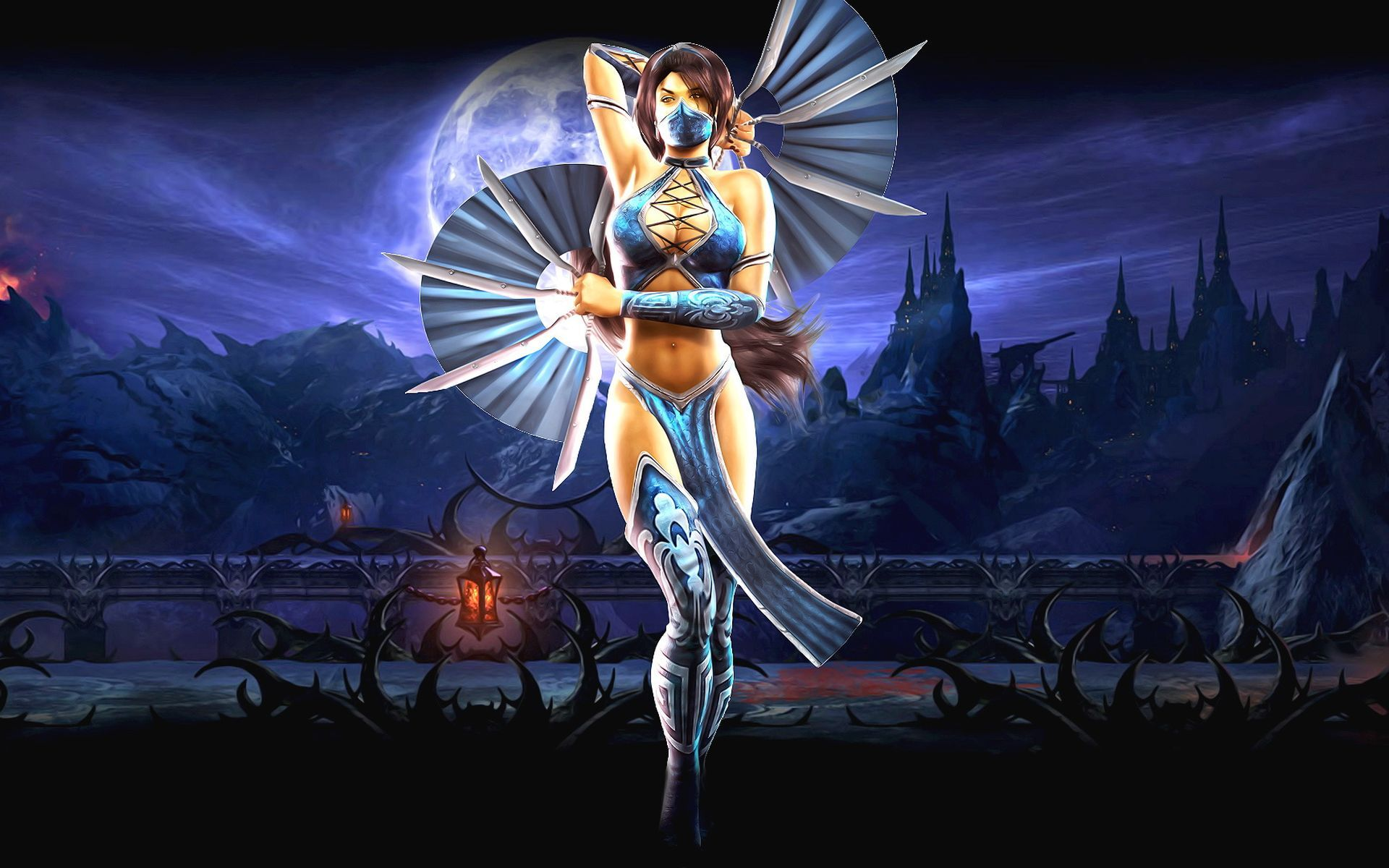 Mortal Kombat wallpaper Kitana with fans