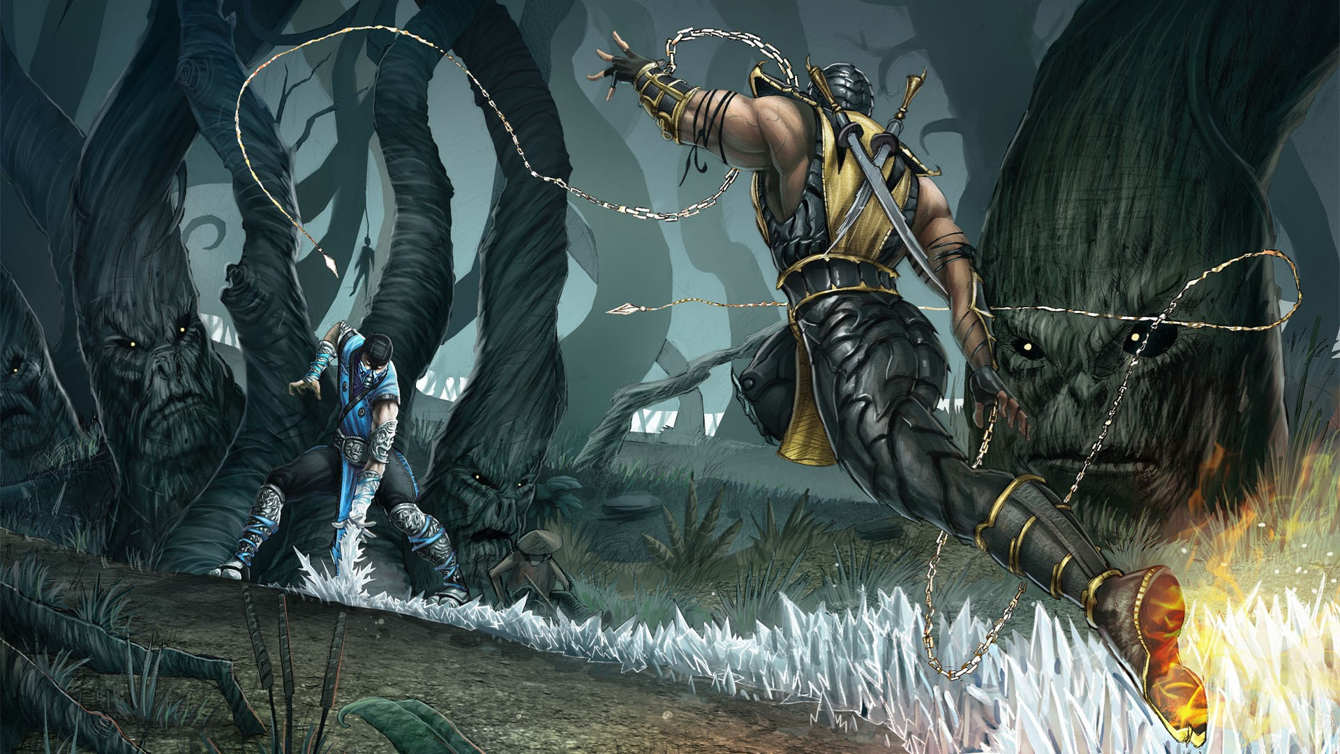 Mortal Kombat Wallpaper Sub Zero And Scorpion Mortal Kombat