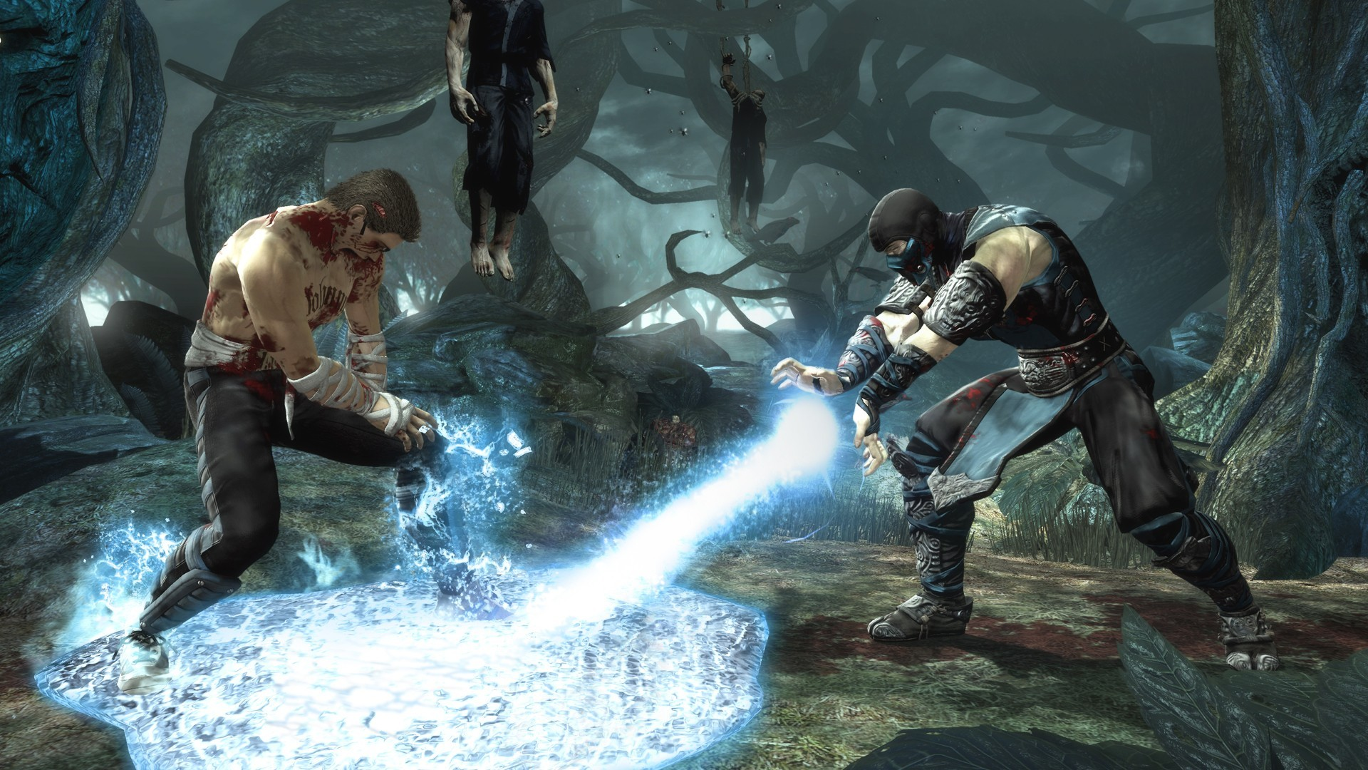 Mortal Kombat wallpaper Sub-Zero and Johnny Cage