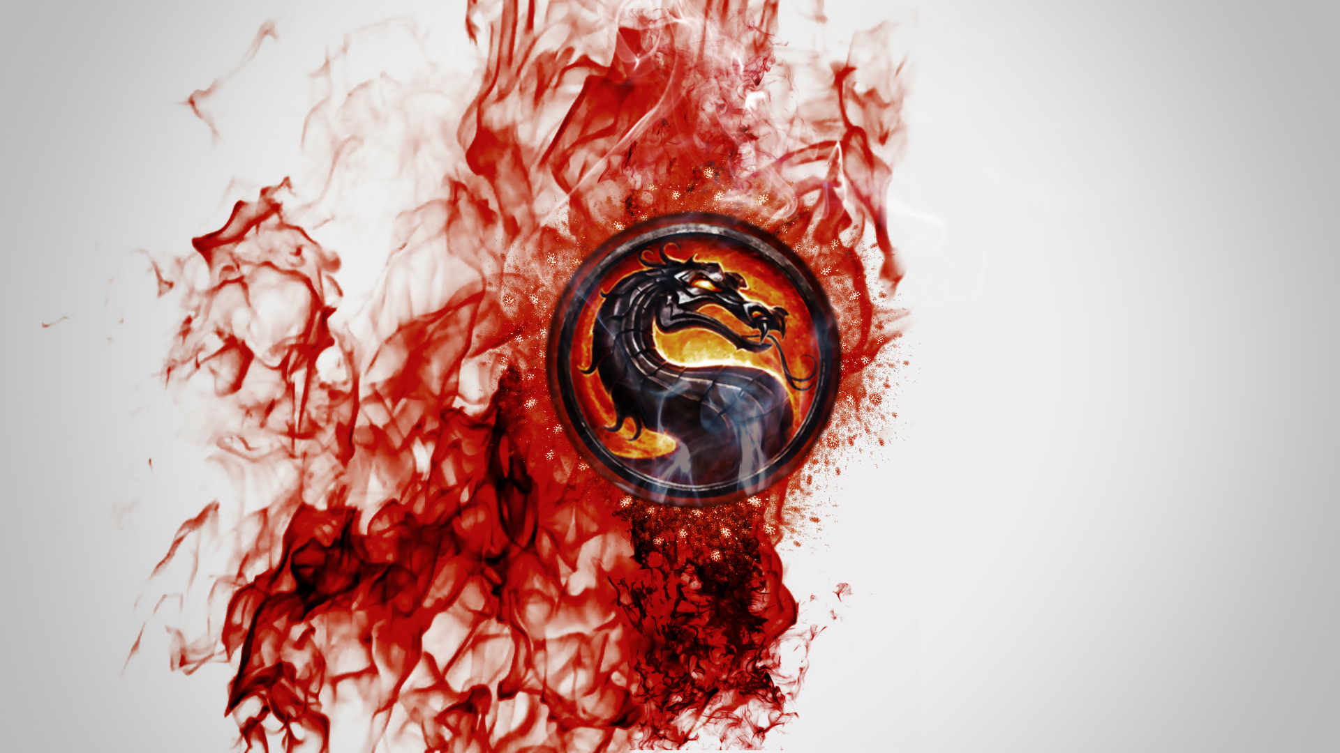 Mortal Kombat wallpaper Dragon in blood