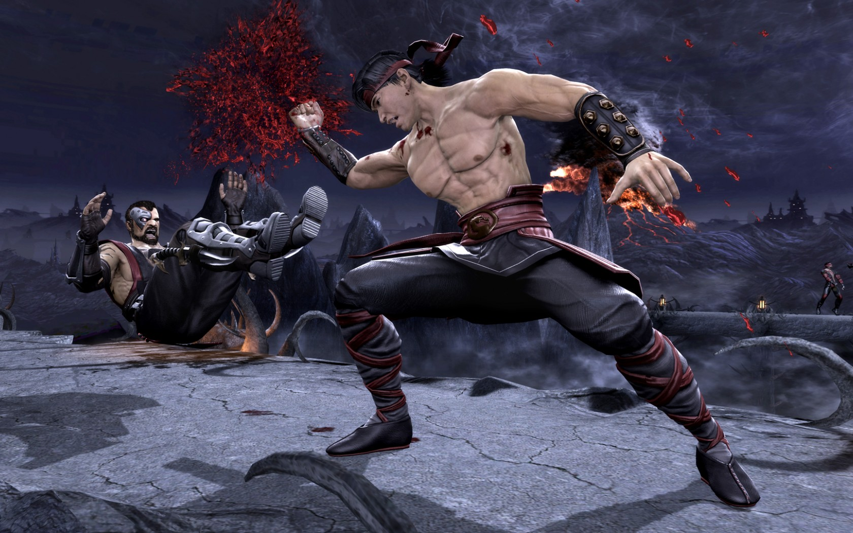 Mortal Kombat wallpaper Kano and Liu Kang