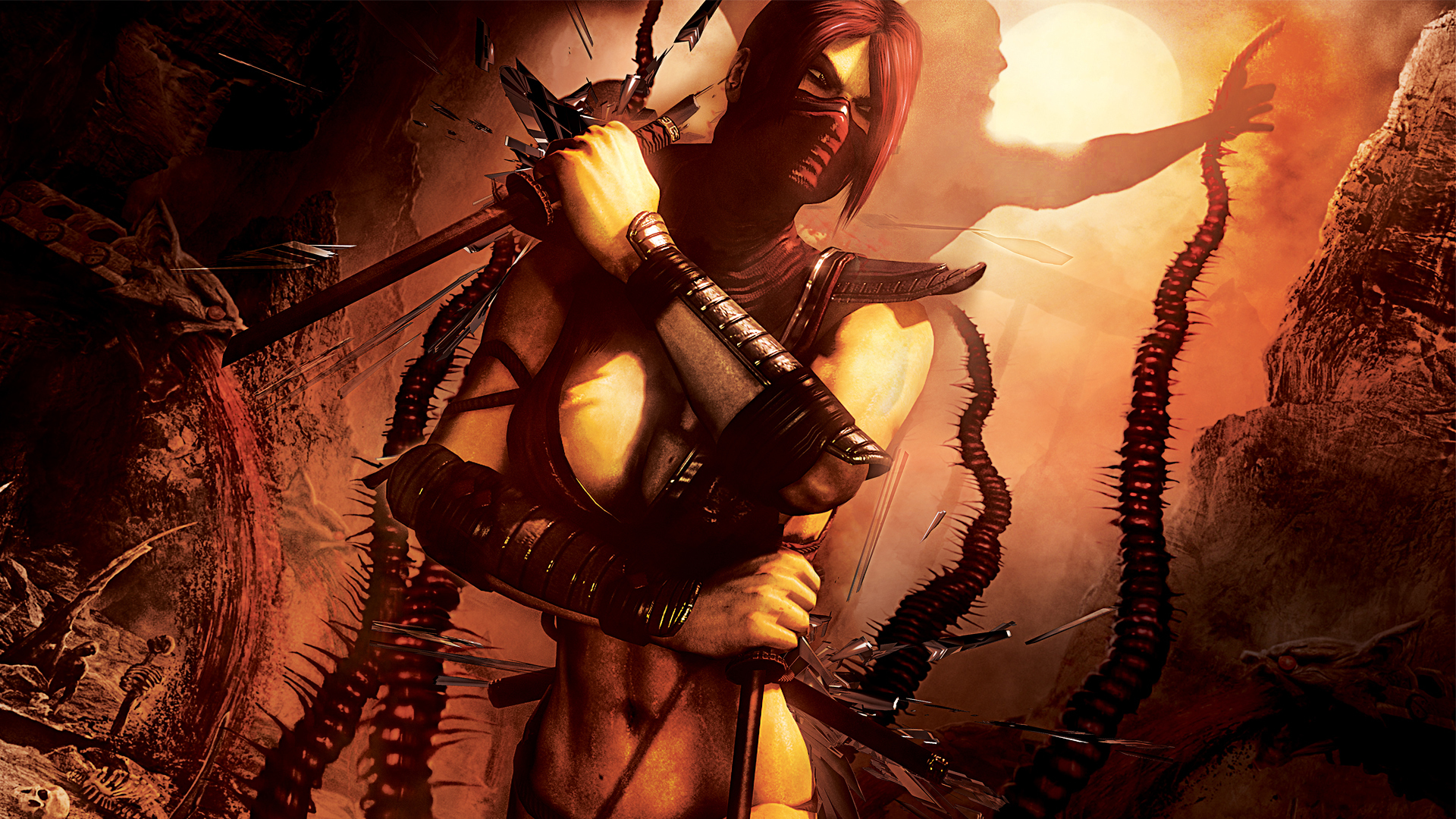 Mortal Kombat Wallpaper Scarlet 3 Mortal Kombat Games Fan Site