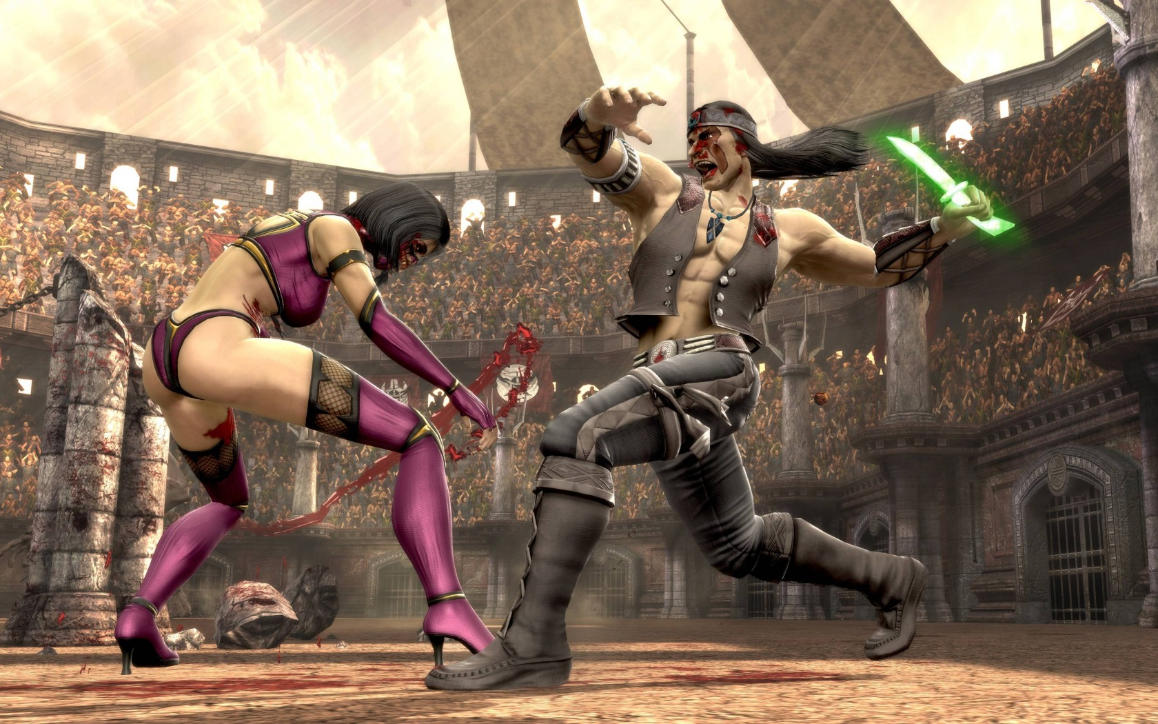 Mortal Kombat wallpaper Mileena and Nightwolf