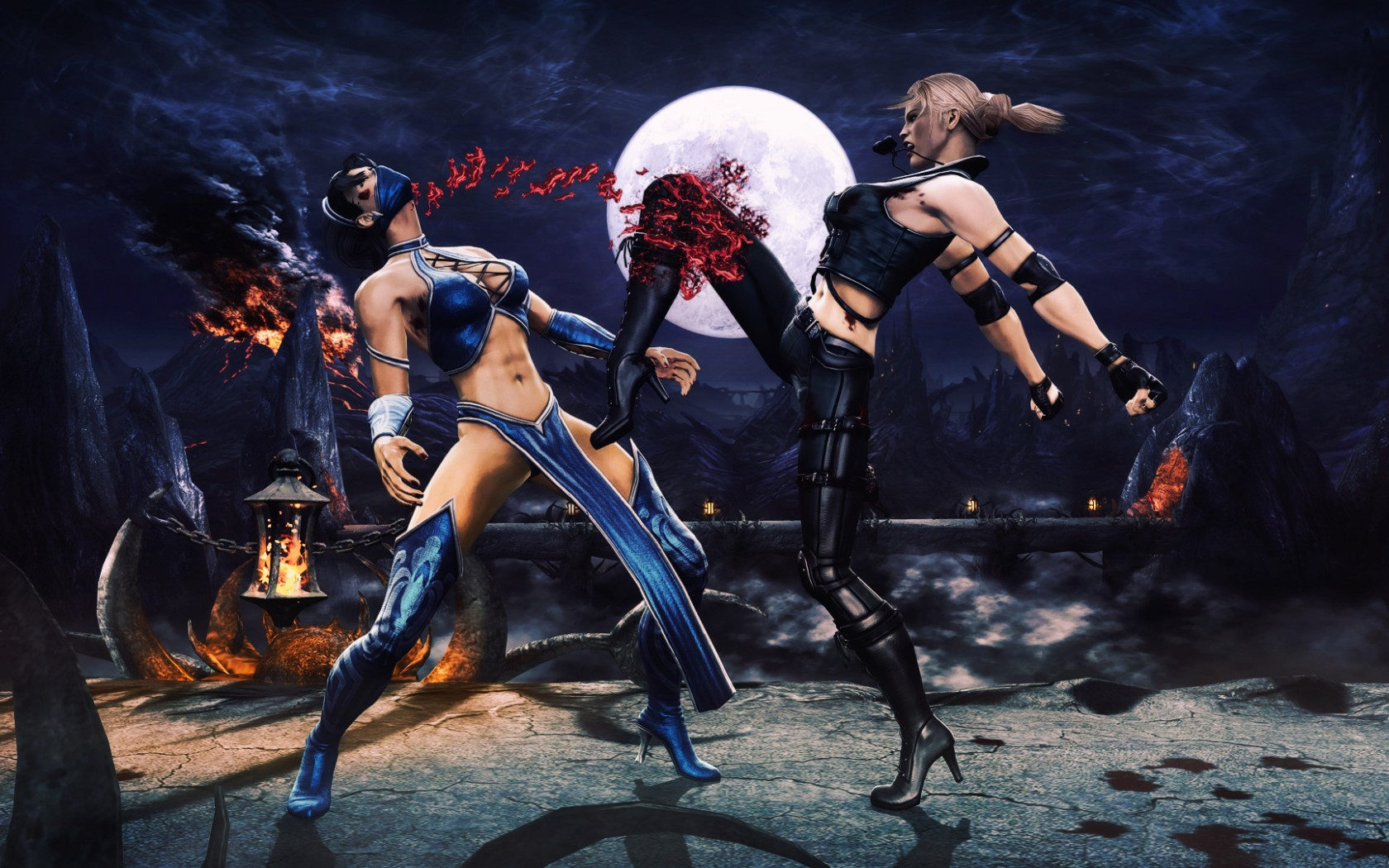 Mortal Kombat wallpaper Sonya Blade and Kitana