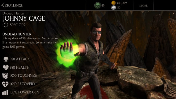 Undead Hunter Johnny Cage Challenge