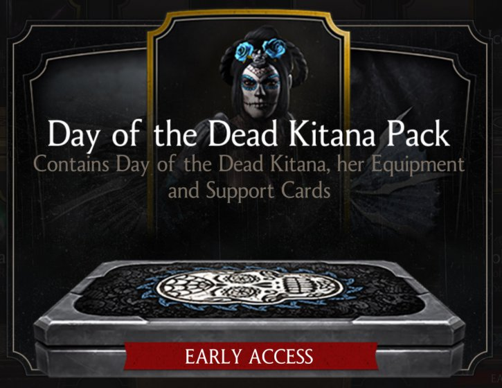 Day of the Dead Kitana early access Mortal Kombat X Mobile