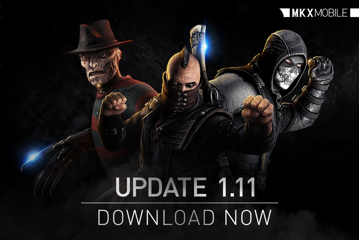 Mortal Kombat X Mobile 1.11 Update all 4 new characters
