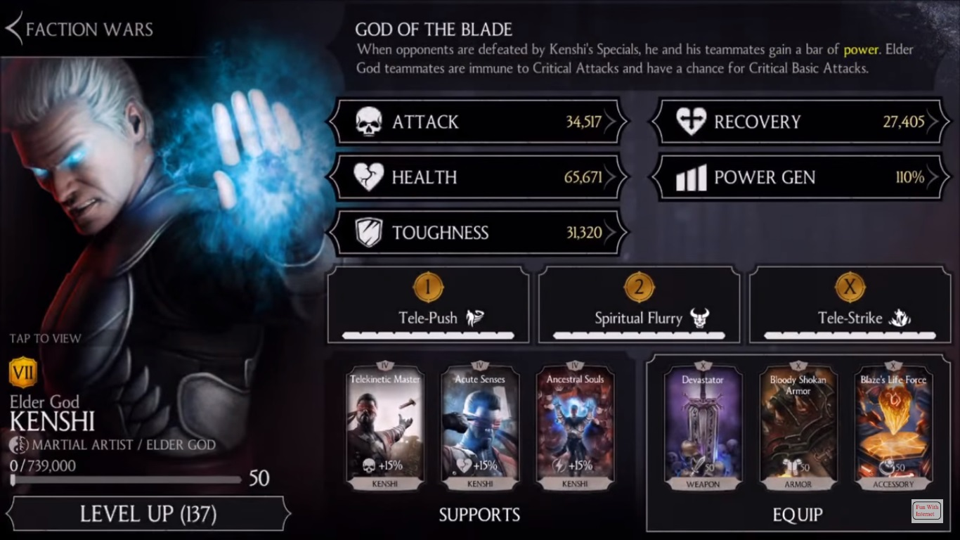 Elder God Kenshi Mortal Kombat X Mobile