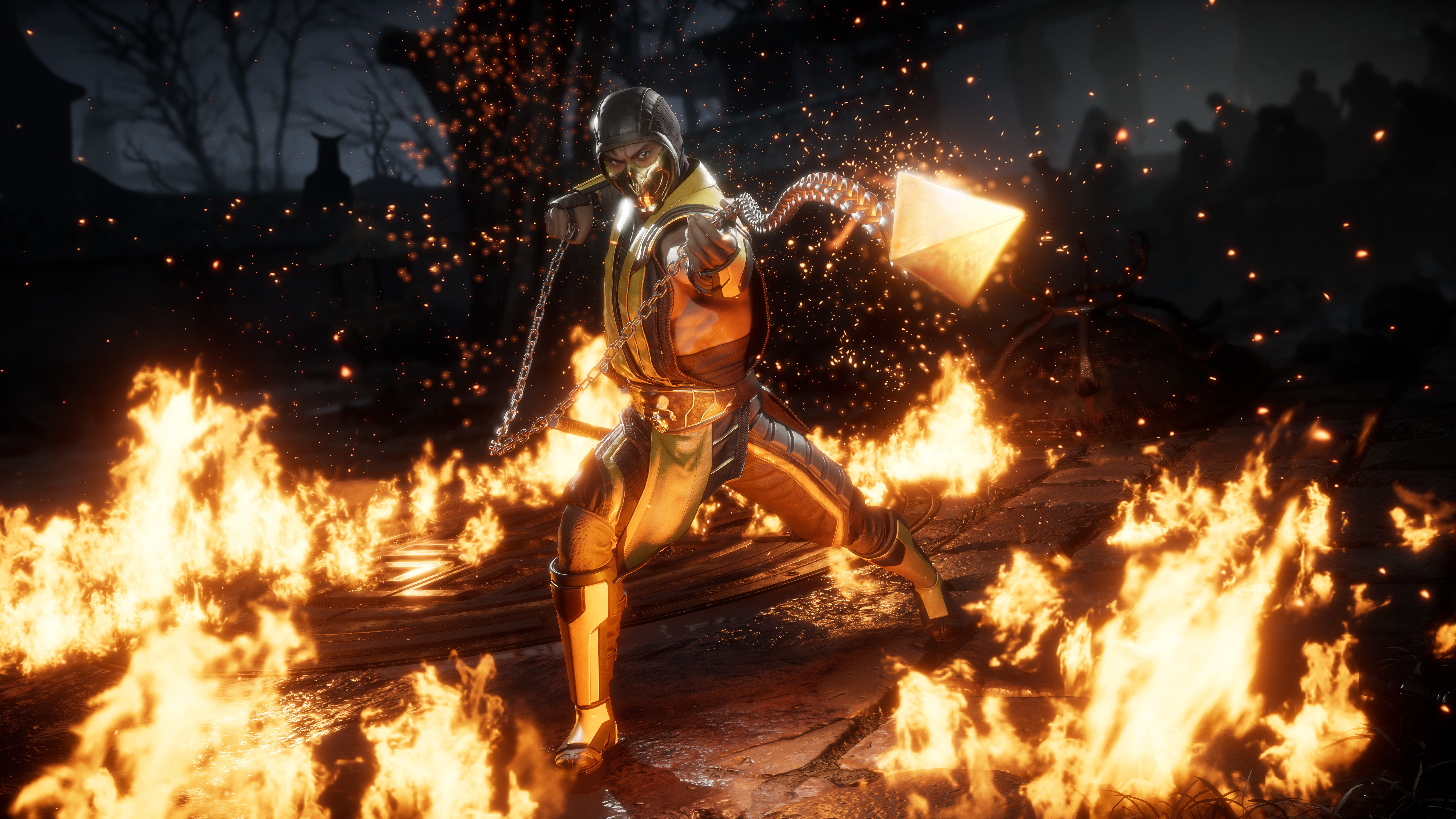 Mortal Kombat 11 wallpaper - Scorpion on fire