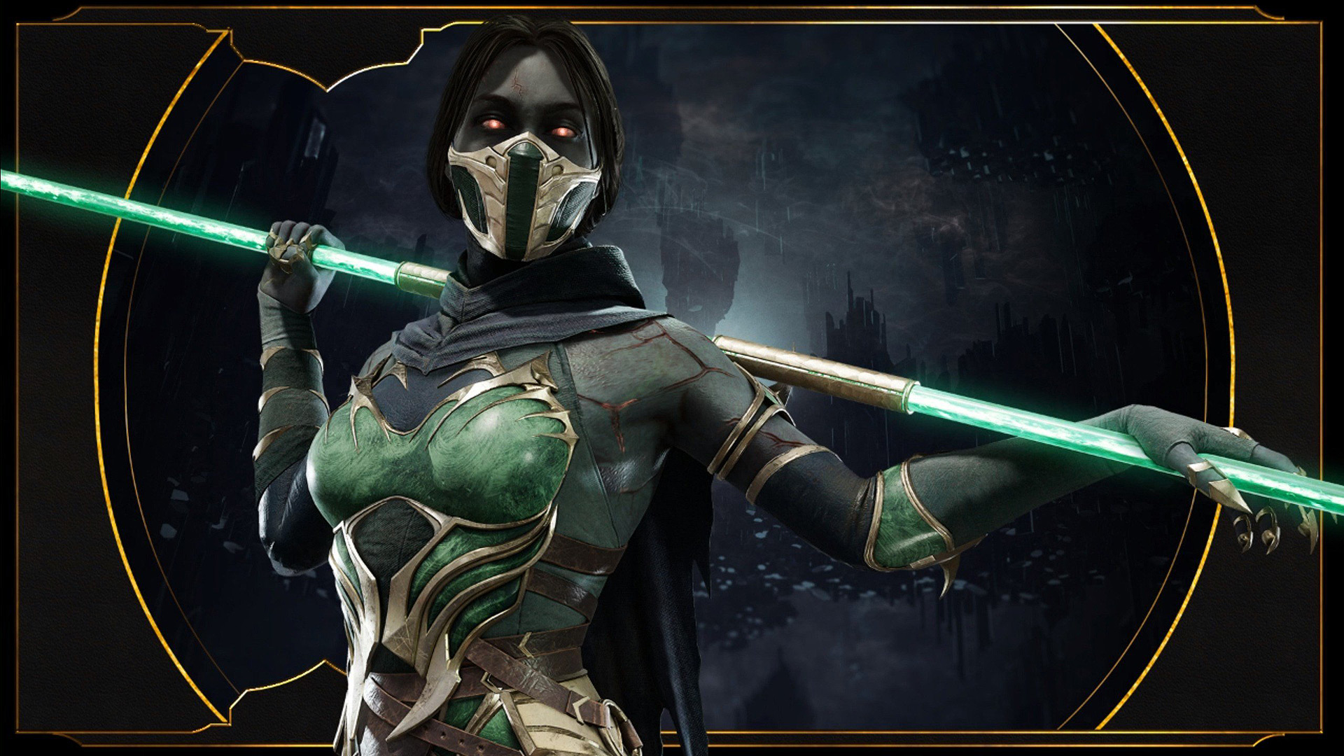Mortal Kombat 11 wallpaper - Jade with a staff