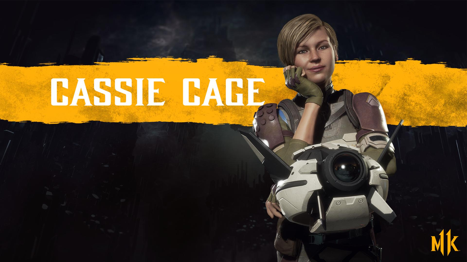 Mortal Kombat 11 background - Cassie Cage