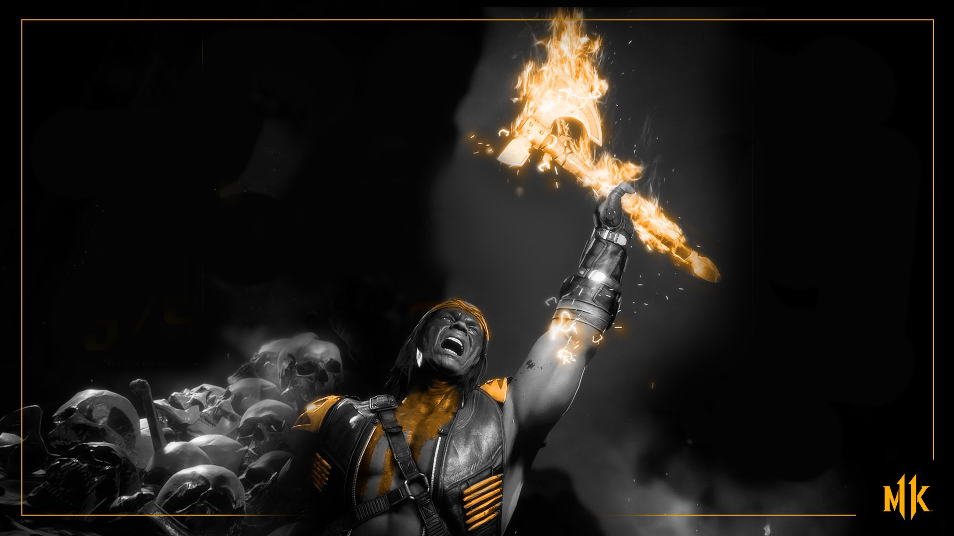 Mortal Kombat 11 background - Gold Nightwolf