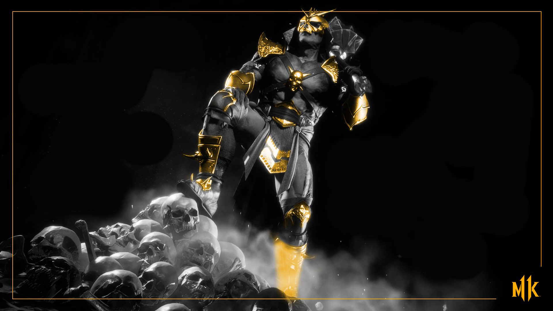 Mortal Kombat 11 background - Gold Shao Khan
