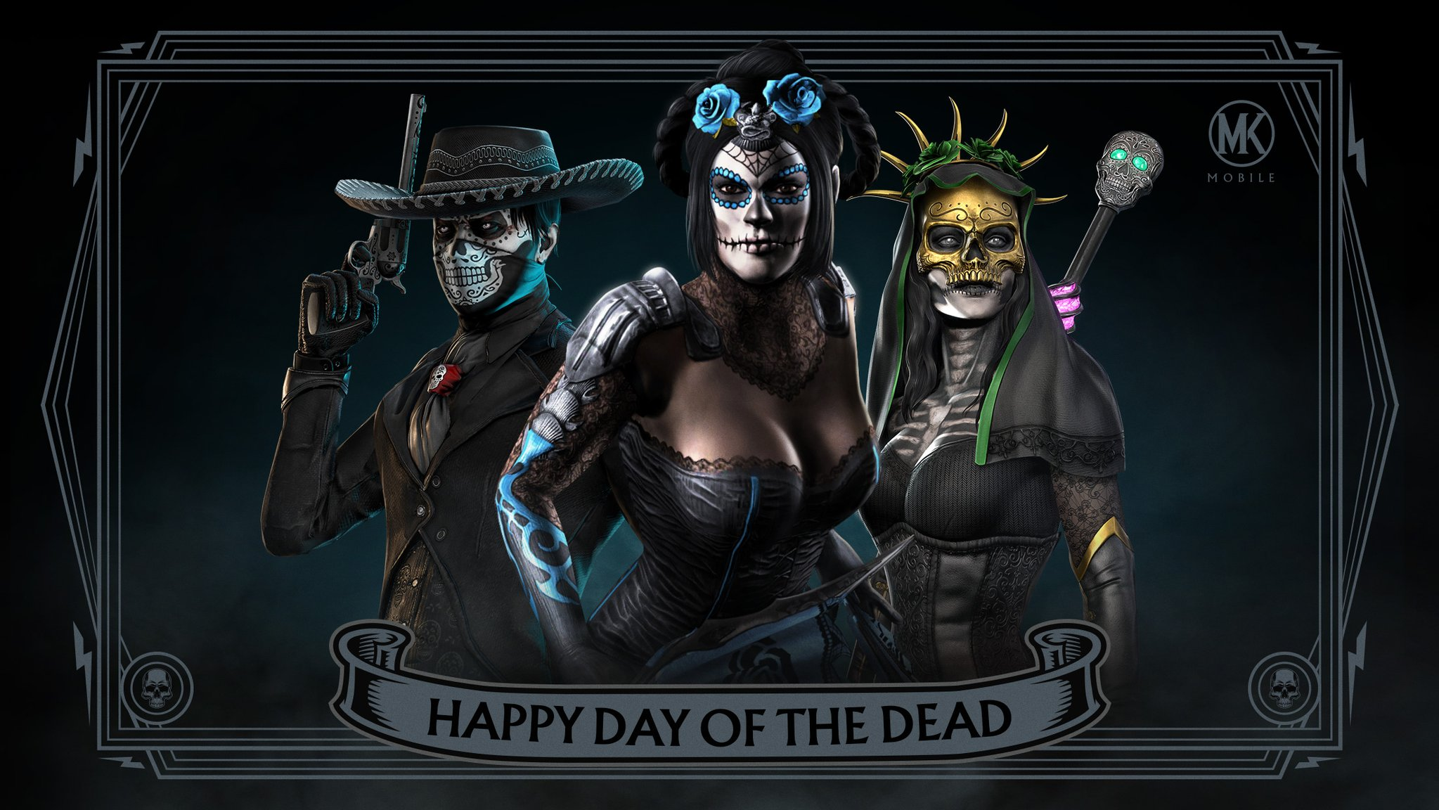 Mortal Kombat Mobile background - Happy Day of the Dead