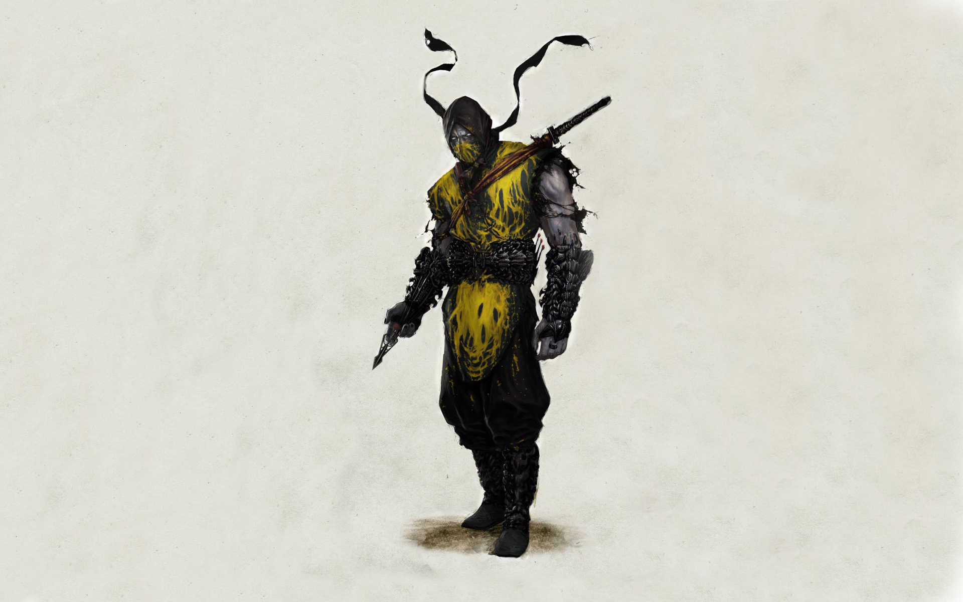 Mortal Kombat wallpaper Scorpion alone