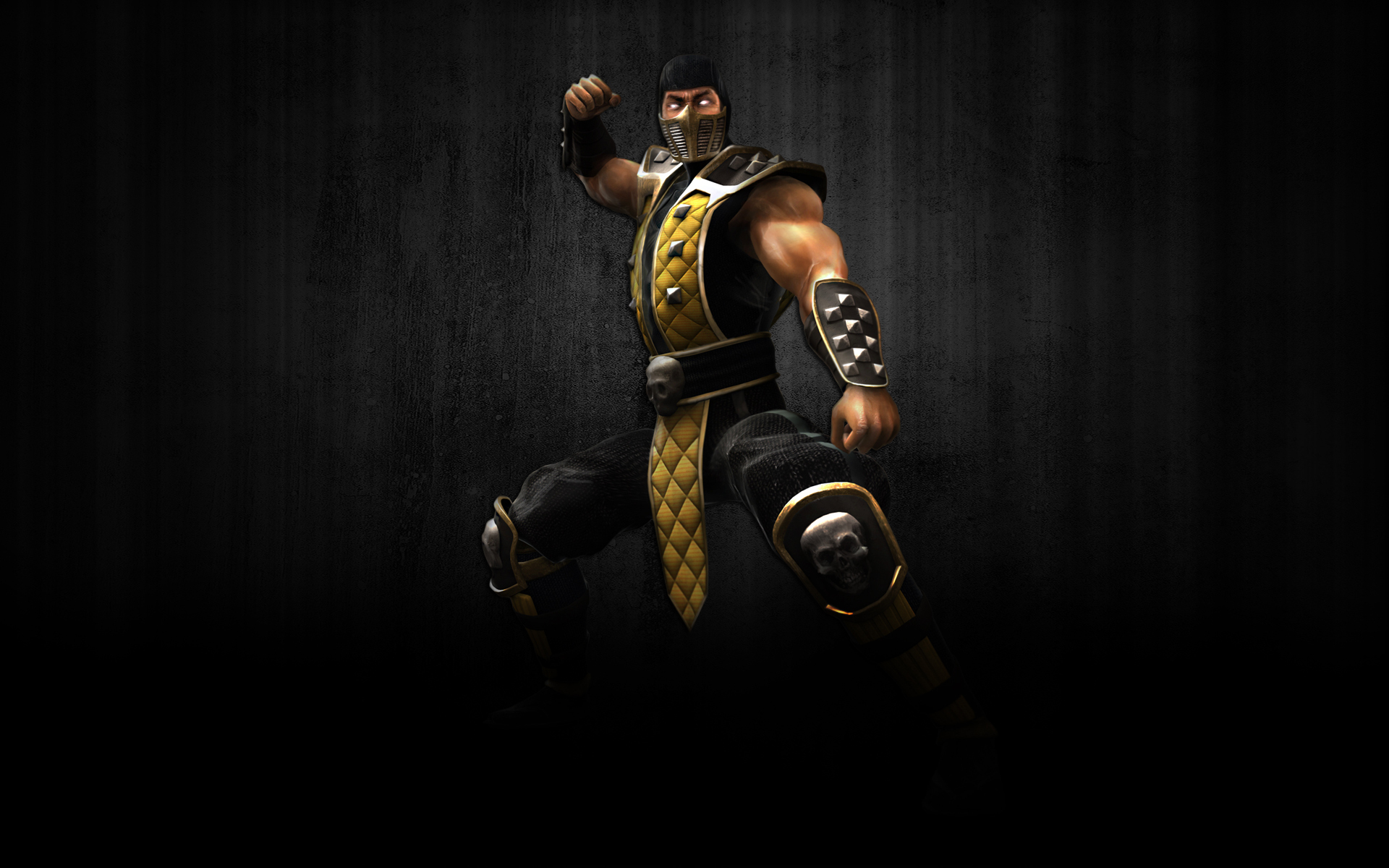 Mortal Kombat wallpaper Scorpion in the shadow