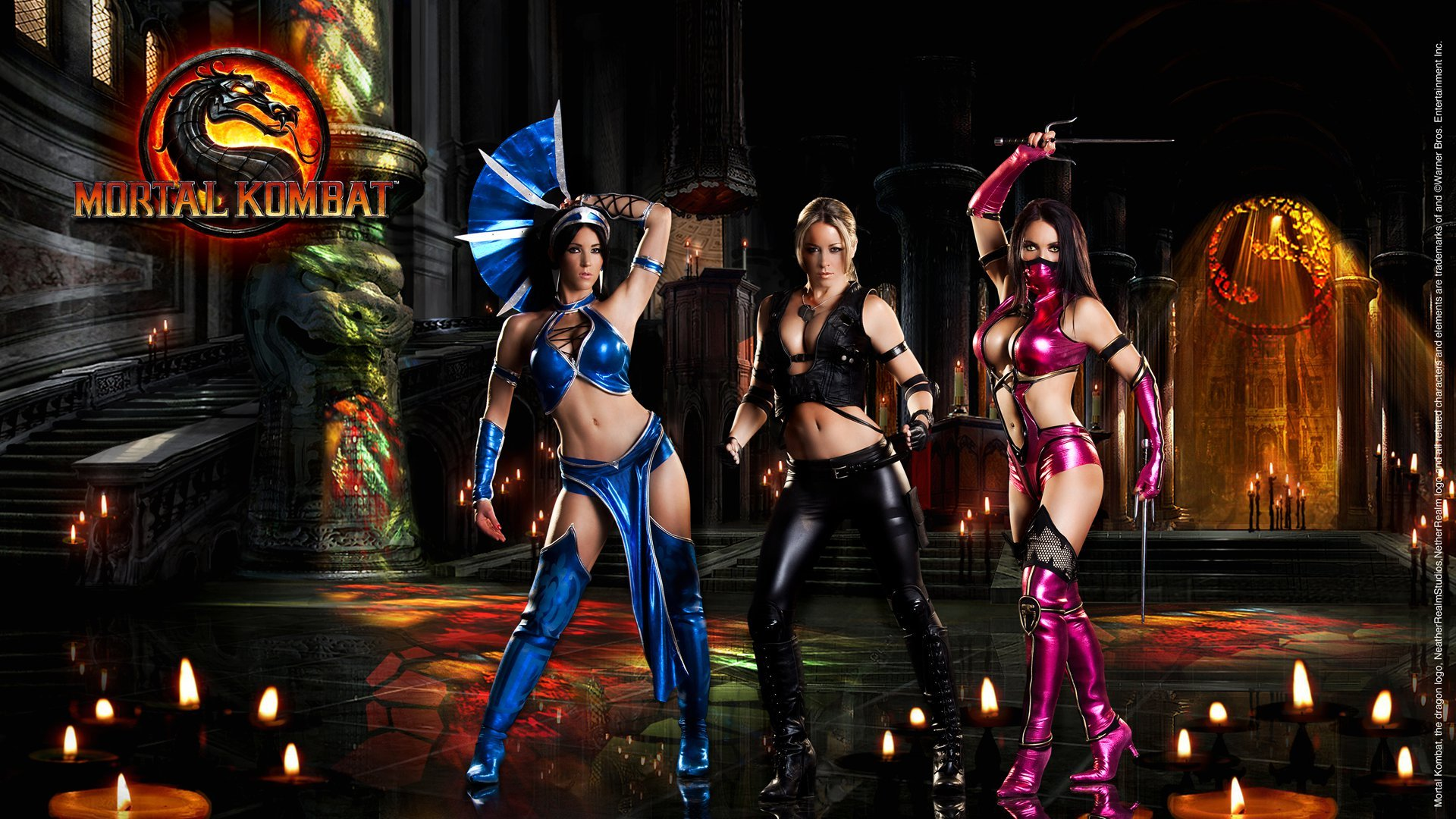 Mortal Kombat Wallpaper Sonya Blade And Kitana Mileena