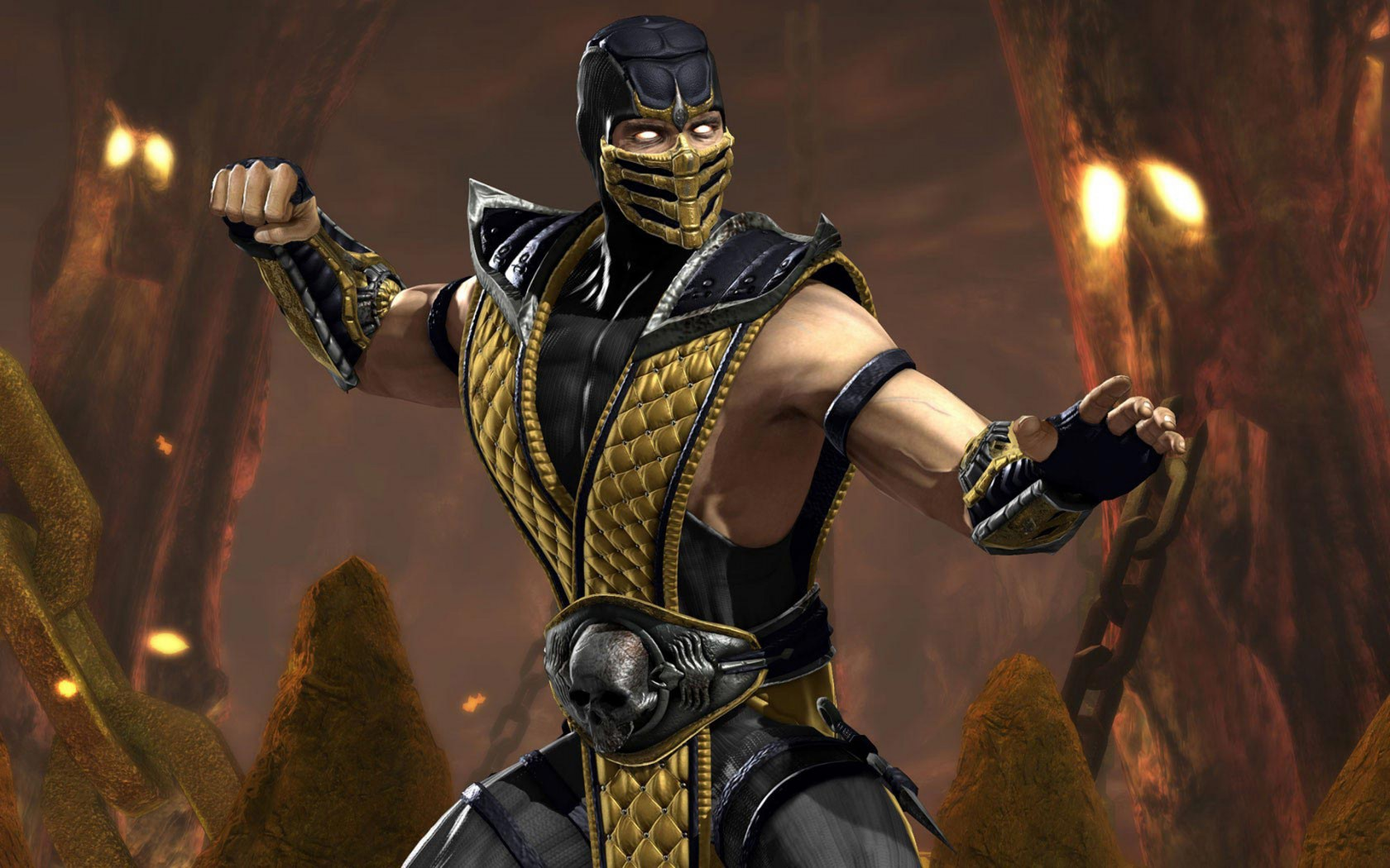 mortal kombat wallpaper scorpion 4 » mortal kombat games, fan site!