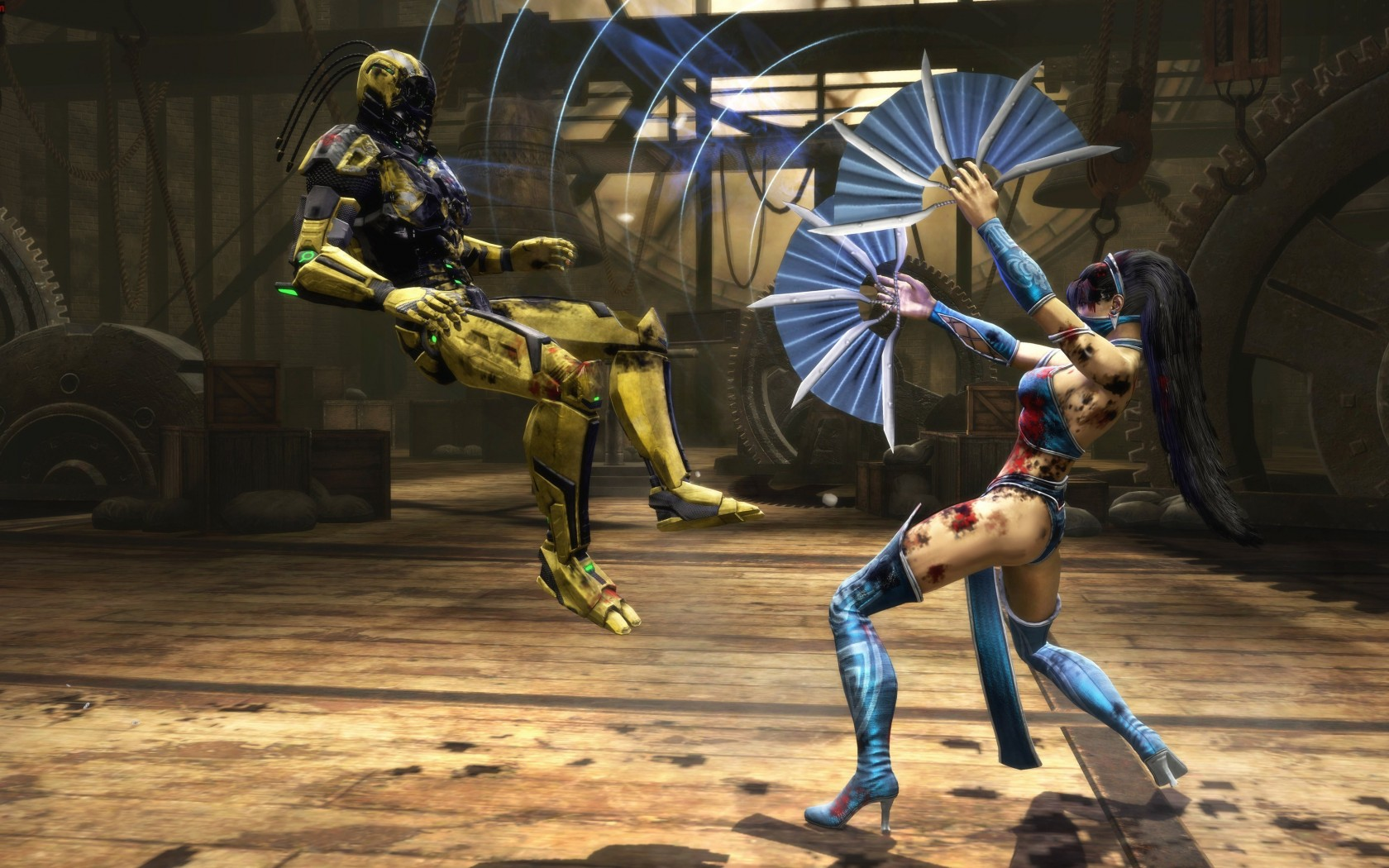Mortal Kombat wallpaper Kitana and Cyrax