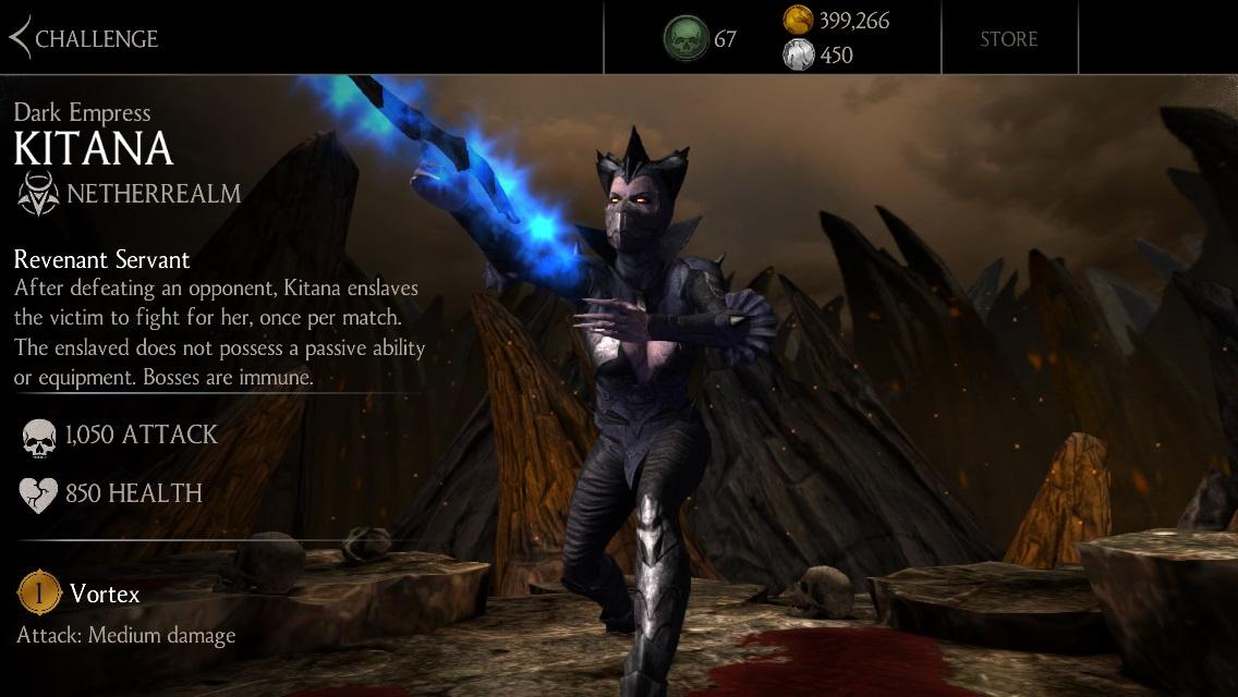 Dark Empress Kitana Challenge Mode 187 Mortal Kombat Games
