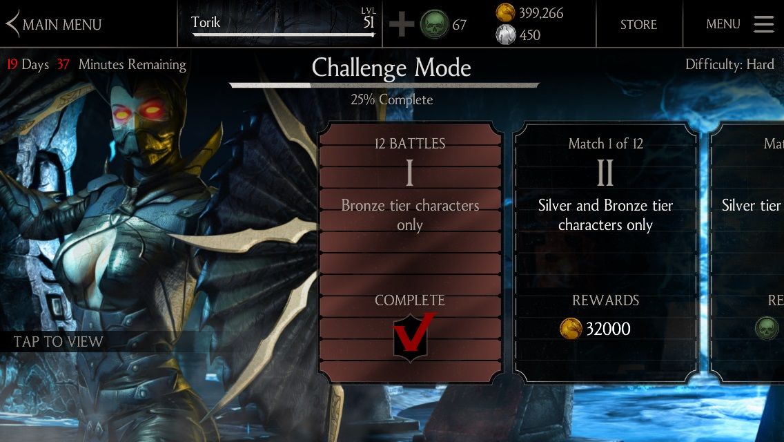 Dark Empress Kitana Challenge Mode