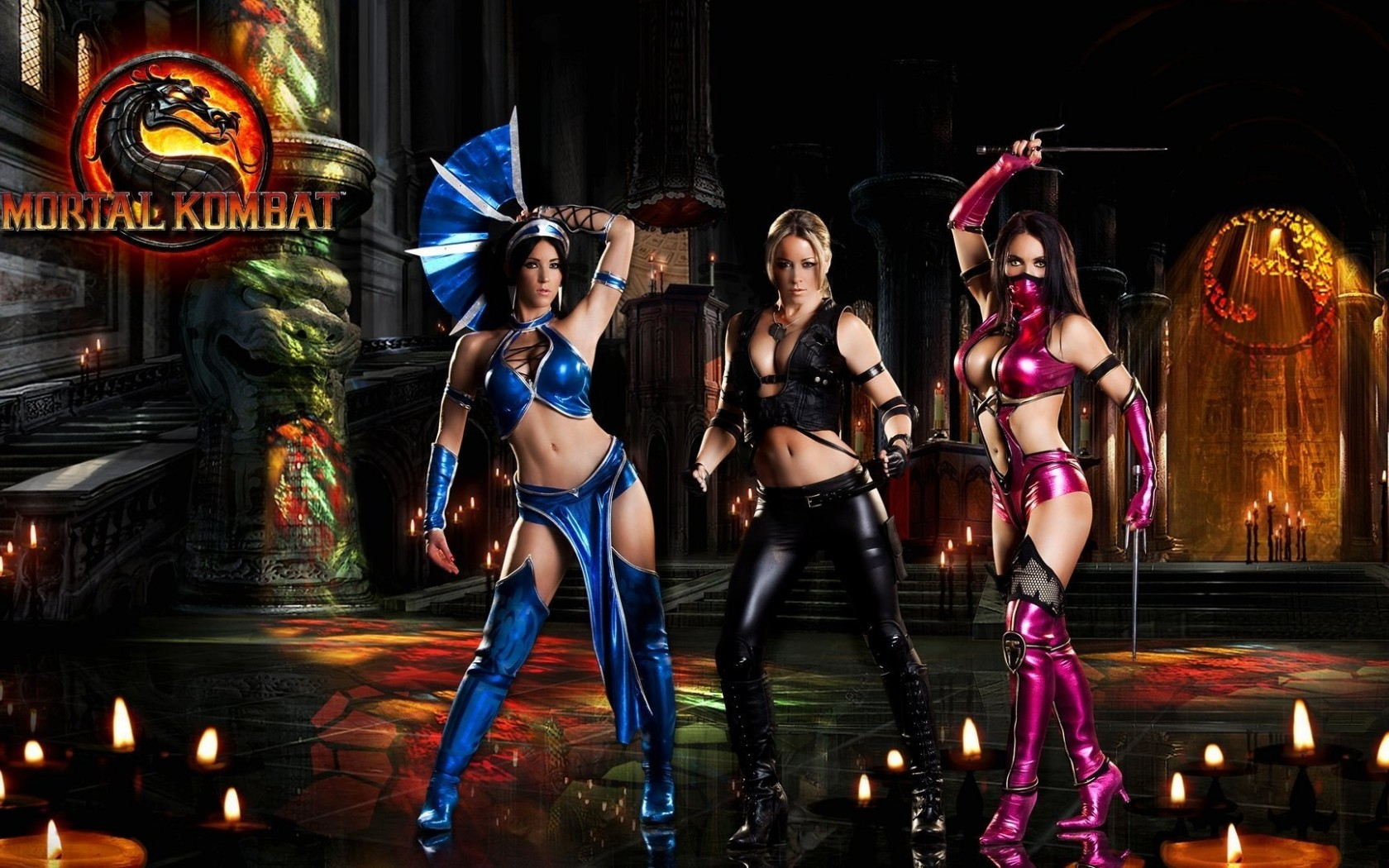 Mortal Kombat wallpaper Sonya Blade and Kitana and Mileena