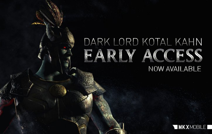 Dark Lord Kotal Kahn early access Mortal Kombat X Mobile
