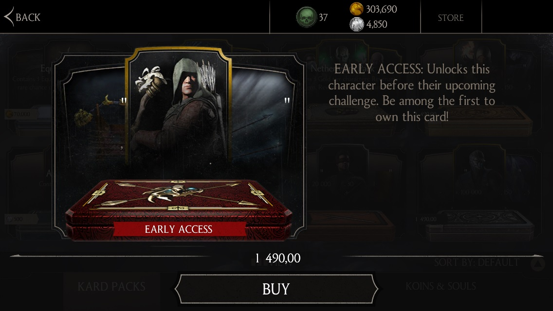 Marksman Kung Jin early access Mortal Kombat X Mobile