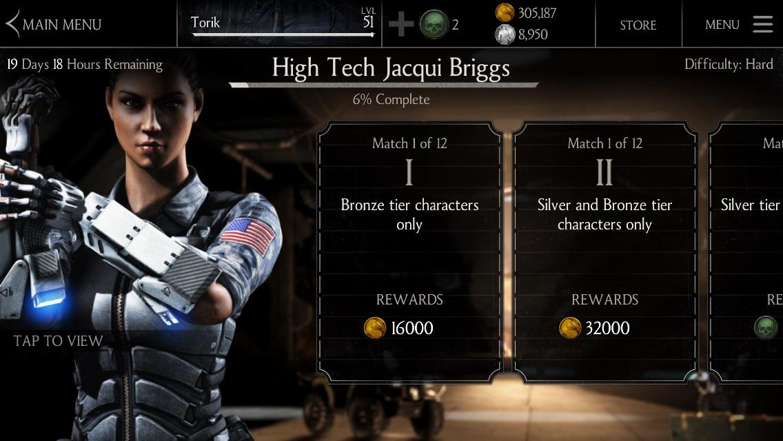 High Tech Jacqui Briggs Challenge Mortal Kombat X Mobile » Mortal