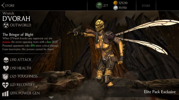 Wretch D Vorah Mkx Mobile 187 Mortal Kombat Games Fan Site