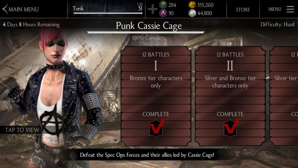 Punk Cassie Cage MKX Mobile » Mortal Kombat games, fan site!