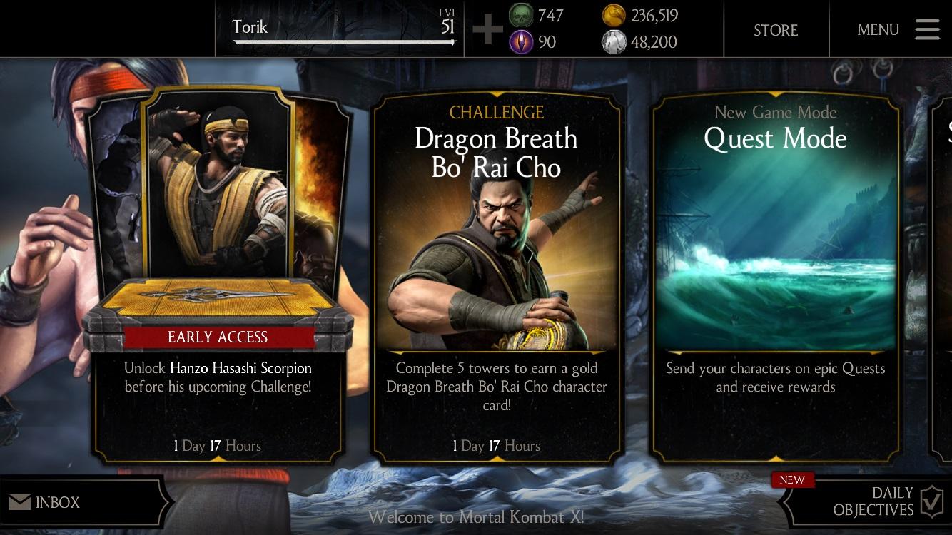 Dragon Breath Bo Rai Cho Mortal Kombat X Mobile » Mortal