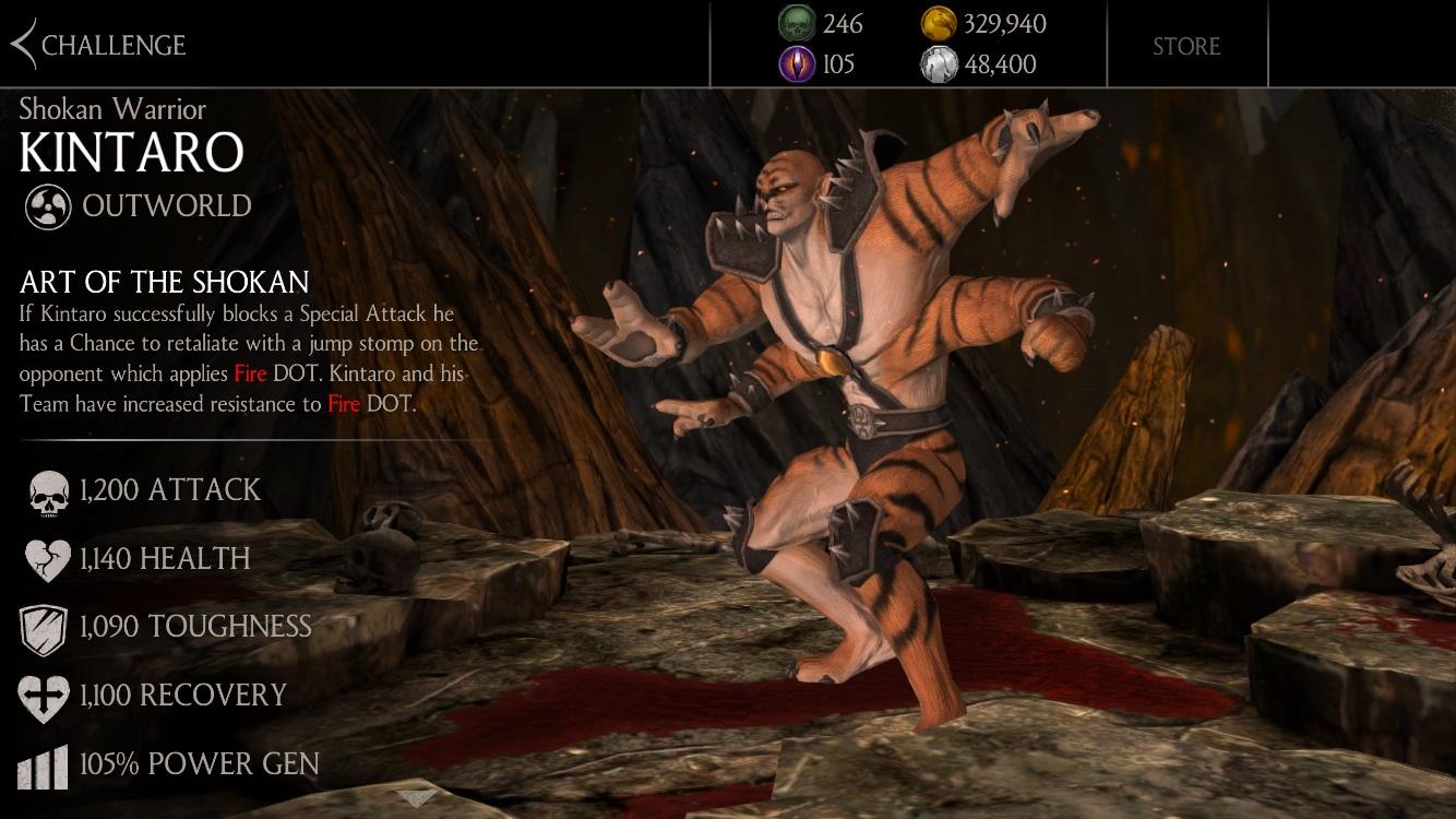 Shokan Warrior Kintaro MKX Mobile » Mortal Kombat games, fan